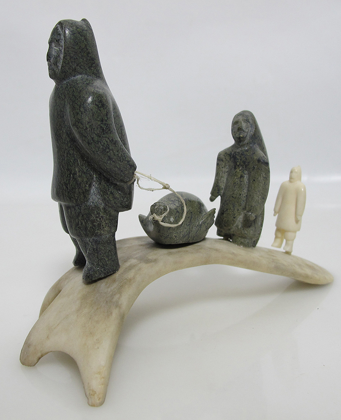 Vtg northwest coast eskimo art inuit native indian stone