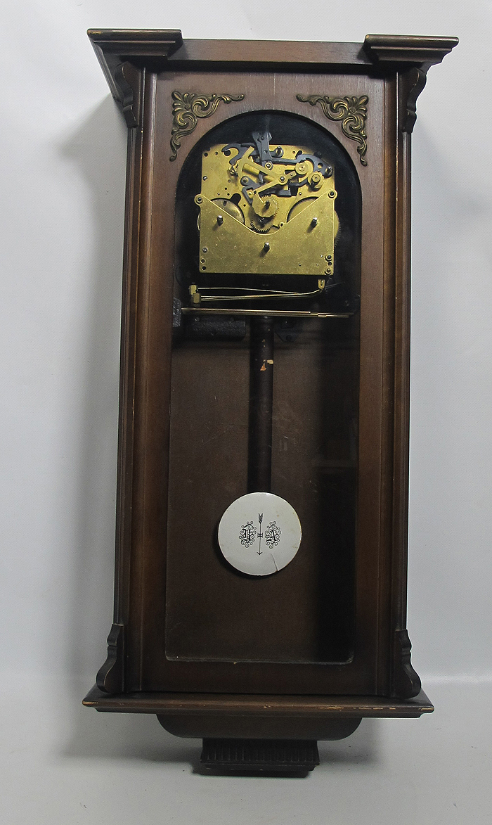 antique german westminster chime wooden wall clock w ra pendulum no face nr yqz ebay. Black Bedroom Furniture Sets. Home Design Ideas