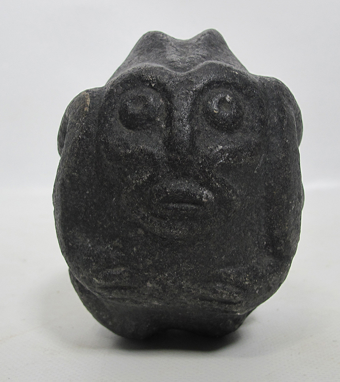 Pre columbian meso american antique monkey stone carving
